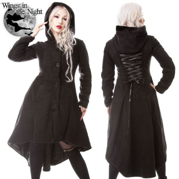 POIZEN INDUSTRIES Gothic Black Memorial Winter Coat